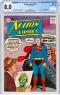 Silver Age (1956-1969):Superhero, Action Comics #239 (DC, 1958) CGC VF 8.0 White pages....