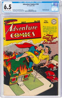 Adventure Comics #128 (DC, 1948) CGC FN+ 6.5 Off-white to white pages