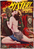 Pulps:Horror, Spicy Mystery Stories -January 1936 (Culture) Condition: GD/VG....