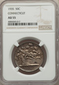 1935 50C Connecticut AU55 NGC. NGC Census: (9/3539). PCGS Population: (8/4987). CDN: $176 Whsle. Bid for problem-free NG...
