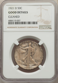 1921-D 50C -- Cleaned -- NGC Details. Good. NGC Census: (267/1401). PCGS Population: (466/2352). CDN: $145 Whsle. Bid fo...