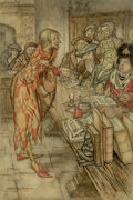 Works on Paper, Arthur Rackham (British, 1867-1939). In Did Come the Strangest Figure, The Pied Piper of Hamelin interior illustration, ...