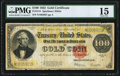 Large Size:Gold Certificates, Fr. 1215 $100 1922 Gold Certificate PMG Choice Fine 15.. ...