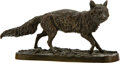 Sculpture, After Pierre Jules Mêne (French, 1810-1879). Wolf, 19th century. Bronze with brown patina. 3-1/8 x 6-3/8 x 2-1/8 inches ...