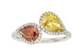 Estate Jewelry:Rings, Fancy Colored Diamond, Diamond, Platinum Ring. ...