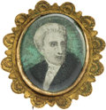 Political:Tokens & Medals, Andrew Jackson: Rare and Desirable Colored Portrait Brooch.. ...