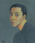 Paintings:Contemporary, Guo Jinyi (Chinese, b. 1974). Untitled (Self Portrait), 2005. Oil on canvas. 29 x 24 inches (73.7 x 61.0 cm). Signed in ...