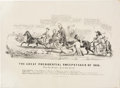 Political:Posters & Broadsides (pre-1896), Millard Fillmore: Road to the White House Cartoon.. ...