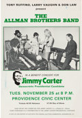 Political:Posters & Broadsides (1896-present), Jimmy Carter: Allman Brothers Benefit Concert Poster.. ...