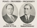 Political:Posters & Broadsides (1896-present), Cox & Roosevelt: Fine Jugate Poster on Quality Paper. . ...