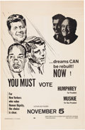 Political:Posters & Broadsides (1896-present), Humphrey & Muskie: Jugate Poster with Three Assassinated Leaders.. ...