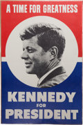 "Political:Posters & Broadsides (1896-present), John F. Kennedy: Large ""Time for Greatness"" Poster.. ..."