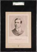 Baseball Cards:Singles (Pre-1930), 1902-11 W600 Sporting Life (Type 1) David Fultz SGC 40 VG 3 - Only Two Graded Examples on SGC & PSA Census! ...