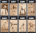 Baseball Cards:Lots, 1910 PC796 Sepia Postcards SGC-Graded Collection (8 Different). ...