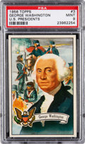 Non-Sport Cards:Singles (Post-1950), 1956 Topps U.S. Presidents - George Washington #3 PSA Mint 9 - None Higher. ...