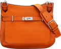 "Luxury Accessories:Bags, Hermès 34cm Orange H Togo Leather Jypsiere Bag with Palladium Hardware. P Square, 2012. Condition: 3. 12.5"" Width ..."
