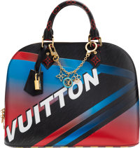 """Louis Vuitton Set of Three: """"Race"""" Alma PM Bag & Charms Condition: 3 See Extended Condition Repor"""