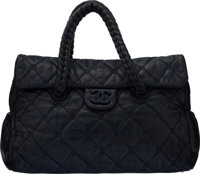 "Chanel Blue Aged Quilted Lambskin Leather Shoulder Bag Condition: 3 14"" Width x 10"" Height x 4"" D"