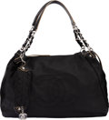 """Luxury Accessories:Bags, Chanel Black Calfskin Leather Large Shoulder Bag. Condition: 2. 17"""" Width x 12"""" Height x 6"""" Depth. ..."""