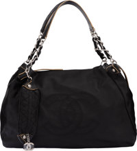 "Chanel Black Calfskin Leather Large Shoulder Bag Condition: 2 17"" Width x 12"" Height x 6"" Depth</..."