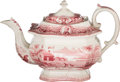 """Political:3D & Other Display (pre-1896), William Henry Harrison: """"Log Cabin"""" Teapot with Medallion Portraits.. ..."""