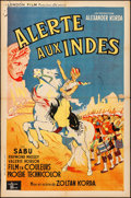 "Movie Posters:Adventure, The Drum (London Film, 1938). Folded, Fine/Very Fine. French Half Grande (31.25"" X 46.75""). Adventure.. ..."