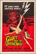 """Movie Posters:Horror, Giant from the Unknown (Astor Pictures, 1958). Folded, Fine/VeryFine. One Sheet (27"""" X 41""""). Horror.. ..."""