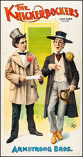 """Movie Posters:Miscellaneous, The Knickerbockers (Late 1890s-Early 1900s). Fine/Very Fine onLinen. Three Sheet (42.25"""" X 80""""). Miscellaneous.. ..."""
