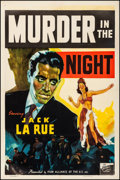 """Movie Posters:Crime, Murder in the Night (Film Alliance, 1940). Fine/Very Fine on Linen.One Sheet (27.5"""" X 41""""). Crime.. ..."""