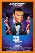 """Movie Posters:James Bond, Never Say Never Again (Warner Brothers, 1983). Rolled, Very Fine. One Sheet (27"""" X 41""""). Rudy Obrero Artwork. James Bond.. ..."""