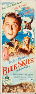 """Movie Posters:Musical, Blue Skies (Paramount, 1946). Folded, Fine/Very Fine. Insert (14"""" X36""""). Musical.. ..."""