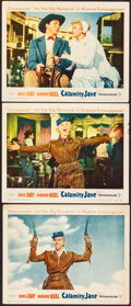 """Movie Posters:Musical, Calamity Jane (Warner Brothers, 1953). Very Fine-. Lobby Cards (3)(11"""" X 14""""). Musical.. ... (Total: 3 Items)"""