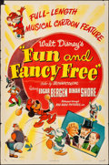 """Movie Posters:Animation, Fun and Fancy Free (RKO, 1947). Folded, Fine/Very Fine. One Sheet (27"""" X 41""""). Animation.. ..."""