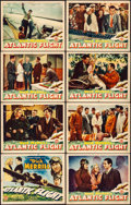 "Movie Posters:Adventure, Atlantic Flight (Monogram, 1937). Fine+. Lobby Card Set of 8 (11"" X14""). Adventure.. ... (Total: 8 Items)"
