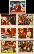 """Movie Posters:Serial, Dangers of the Canadian Mounted (Republic, R-1957). Very Fine.Lobby Card Set of 8 & Lobby Cards (5) (11"""" X 14""""). Chapter 1... (Total: 13 Items)"""