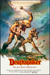 "Deathstalker & Other Lot (New World, 1983). Folded, Very Fine-. One Sheets (2) (26.5"" X 39.5"" &amp..."