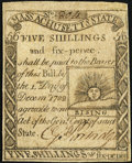 Colonial Notes:Massachusetts, Massachusetts 1779 5s 6d Fine.. ...
