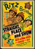 "Movie Posters:Comedy, Straight, Place and Show (20th Century Fox, 1938). Fine+. TrimmedMidget Window Card (8"" X 11.25""). Comedy. From the Colle..."