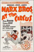 """Movie Posters:Comedy, At the Circus (MGM, R-1962). Folded, Very Fine. One Sheet (27"""" X41""""). Al Hirschfeld Artwork. Comedy.. ..."""