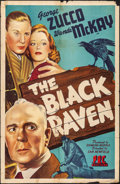"""Movie Posters:Mystery, The Black Raven (PRC, 1943). Folded, Fine. One Sheet (27"""" X 41"""").Mystery.. ..."""