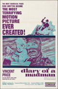 """Movie Posters:Horror, Diary of a Madman (United Artists, 1963). Folded, Very Fine-. OneSheet (27"""" X 41""""). Horror.. ..."""