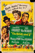 """Movie Posters:Comedy, The Egg and I (Universal International, R-1954). Folded, Fine+. OneSheet (27"""" X 41""""). Comedy.. ..."""