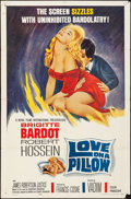 "Movie Posters:Foreign, Love on a Pillow (Royal Films International, 1963). Folded, Fine+.One Sheet (27"" X 41""). Foreign.. ..."