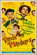 """Movie Posters:Comedy, Paris Playboys (Allied Artists, 1954). Folded, Very Fine-. OneSheet (27"""" X 41""""). Comedy.. ..."""