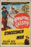 "Movie Posters:Western, Stagecoach War & Other Lot (Screen Guild, R-1948). Folded, Fine/Very Fine. Stock One Sheets (2) (27"" X 41""). Western.. ... (Total: 2 Items)"
