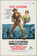 """Movie Posters:Western, Two Mules for Sister Sara (Universal, 1970). Folded, Very Fine-.One Sheet (27"""" X 41""""). Western.. ..."""