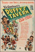 "Movie Posters:Comedy, Duffy's Tavern (Paramount, 1945). Fine/Very Fine on Linen. One Sheet (27.5"" X 41""). Comedy. From the Collection of Frank B..."