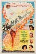 """Movie Posters:Mystery, Flight to Nowhere (Screen Guild Productions, 1946). Very Fine onLinen. One Sheet (27.5"""" X 41""""). Mystery. From the Collect..."""