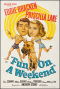 """Movie Posters:Comedy, Fun on a Weekend (United Artists, 1947). Fine on Linen. One Sheet(27.25"""" X 41""""). Comedy. From the Collection of Frank Bux..."""