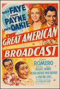 """Movie Posters:Comedy, The Great American Broadcast (20th Century Fox, 1941). Fine/VeryFine on Linen. One Sheet (27.5"""" X 41"""") Style A. Comedy. F..."""
